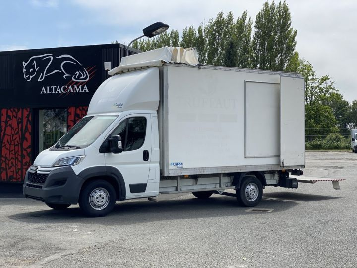 Light van Citroen Jumper Box body + Lifting Tailboard 130 HAYON ELEVATEUR 20 m2 TOIT DEBACHABLE COULISSANT PORTE LATERALE BLANC - 12