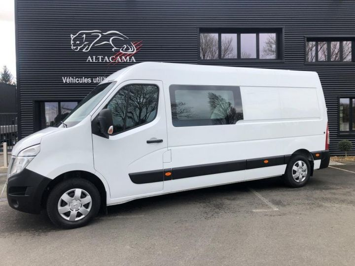Light van Nissan NV400 Box body + Lifting Tailboard 125 FOURGON 7 PLACES HAYON ELEVATEUR CLIMATISE L3H2 BLANC - 2