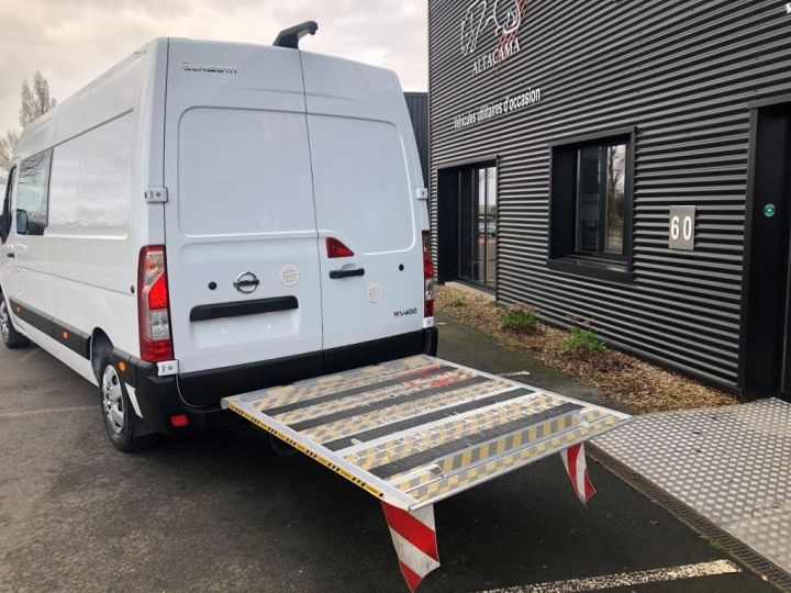 Light van Nissan NV400 Box body + Lifting Tailboard 125 FOURGON 7 PLACES HAYON ELEVATEUR CLIMATISE L3H2 BLANC - 4
