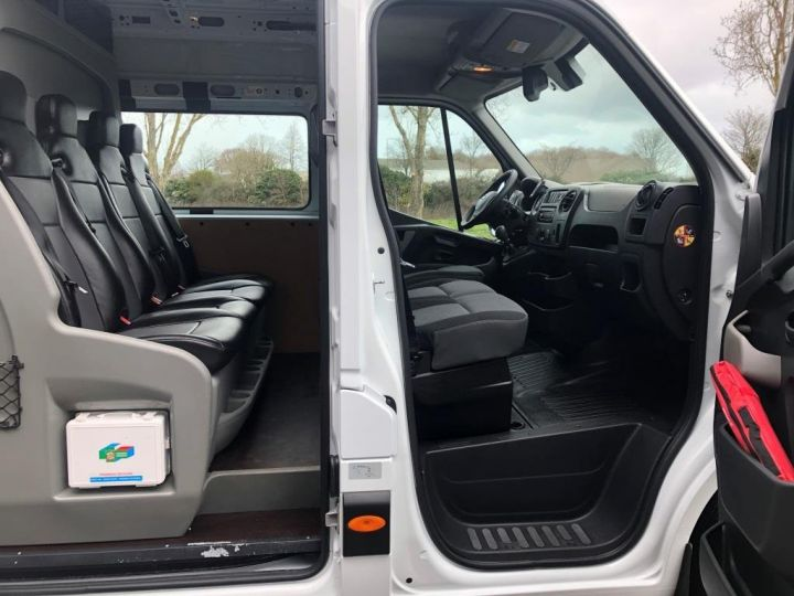 Light van Nissan NV400 Box body + Lifting Tailboard 125 FOURGON 7 PLACES HAYON ELEVATEUR CLIMATISE L3H2 BLANC - 18