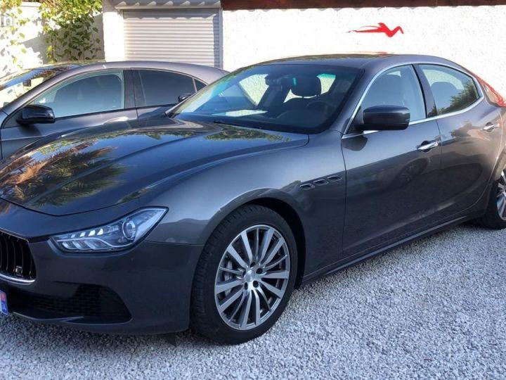 Maserati Ghibli iii 3.0 v6 diesel 275ch / francaise / led / gps / camera / garantie Gris métallisée  - 1