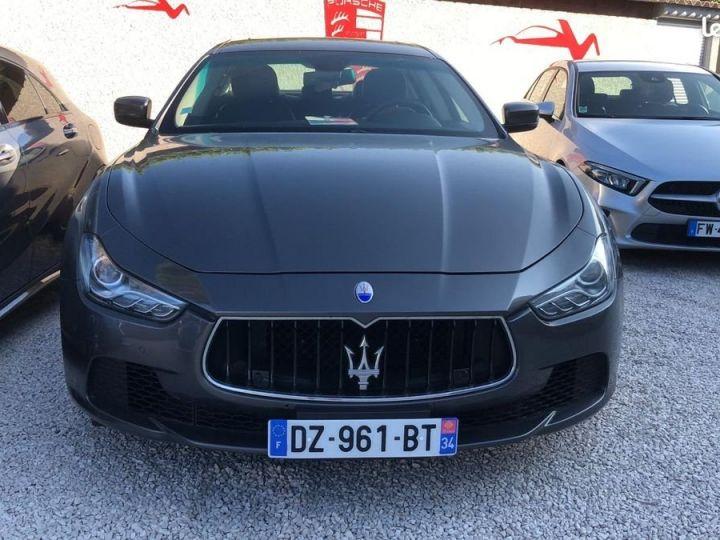 Maserati Ghibli iii 3.0 v6 diesel 275ch / francaise / led / gps / camera / garantie Gris métallisée  - 2