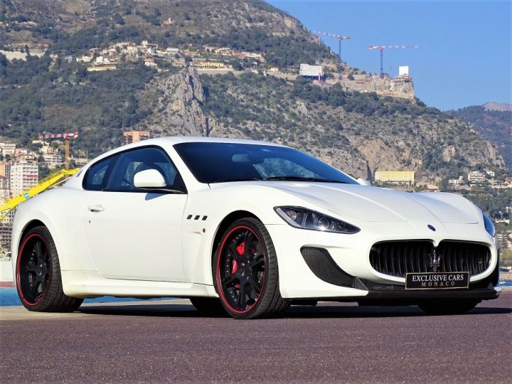 Maserati GranTurismo MC STRADALE V8 4.7 F1 BVR 450 CV - MONACO Blanc Eldorado - 13