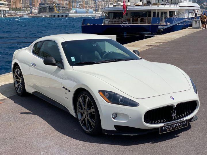 Maserati GranTurismo S V8 4.7 F1 BVR 440 CV - MONACO Blanc  - 3