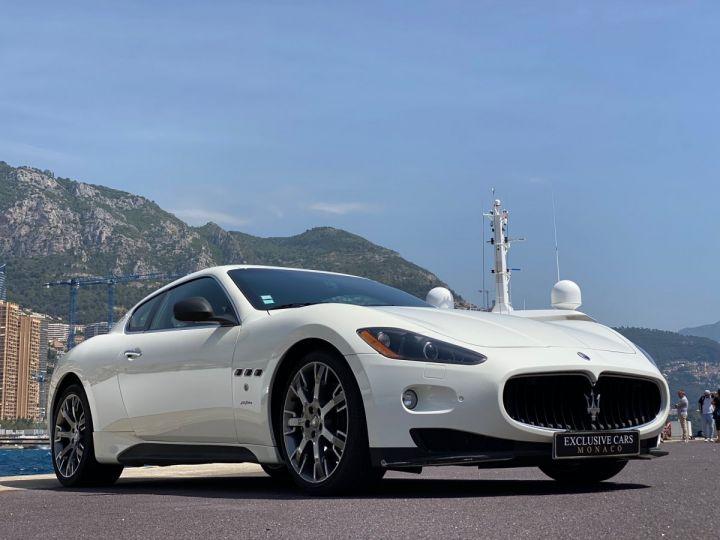 Maserati GranTurismo S V8 4.7 F1 BVR 440 CV - MONACO Blanc  - 19
