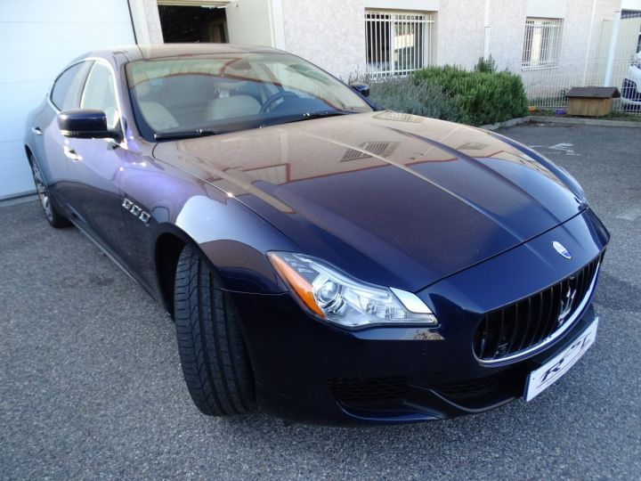 Maserati Quattroporte VI 3.8 V8 530 SPORT GTS AUTOMATIQUE/ DVD Jtes 20 PDC + Camera  bleu métallisé  - 2