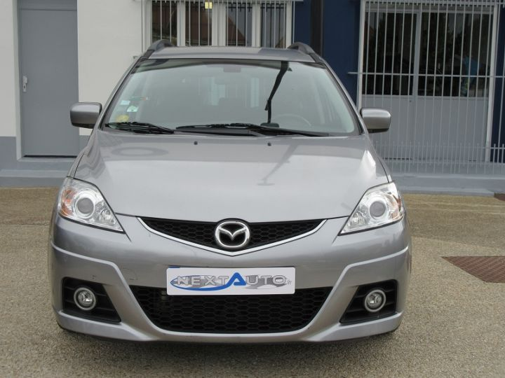 Mazda 5 MAZDA 2.0 MZR-CD110 ELEGANCE 7PL Gris Clair Occasion - 6