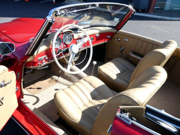 Mercedes 190 SL Rouge Occasion - 14