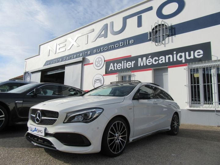 Mercedes CLA Shooting Brake 180 D WHITEART EDITION 7G-DCT Blanc Occasion - 1
