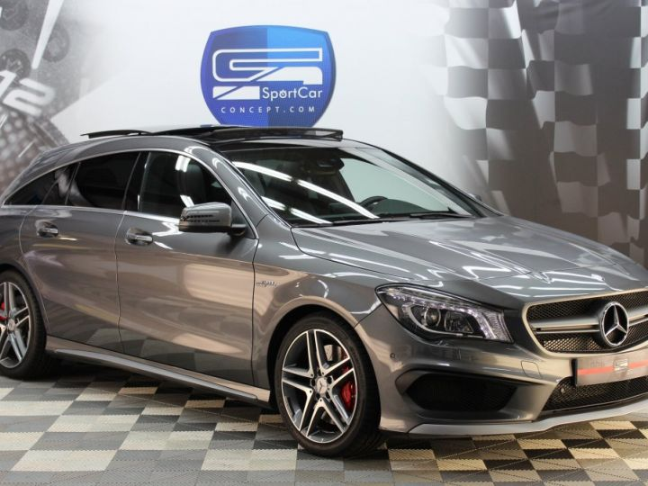 Mercedes CLA Shooting Brake 45 amg 360ch / pack performance / harman & kardon GRIS MONTAGNE Métallisée Vendu - 1