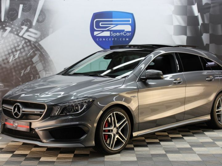 Mercedes CLA Shooting Brake 45 amg 360ch / pack performance / harman & kardon GRIS MONTAGNE Métallisée Vendu - 2