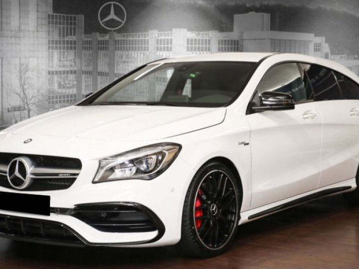 Mercedes CLA Shooting Brake 45 AMG 381CH 4MATIC SPEEDSHIFT DCT BLANC Occasion - 1