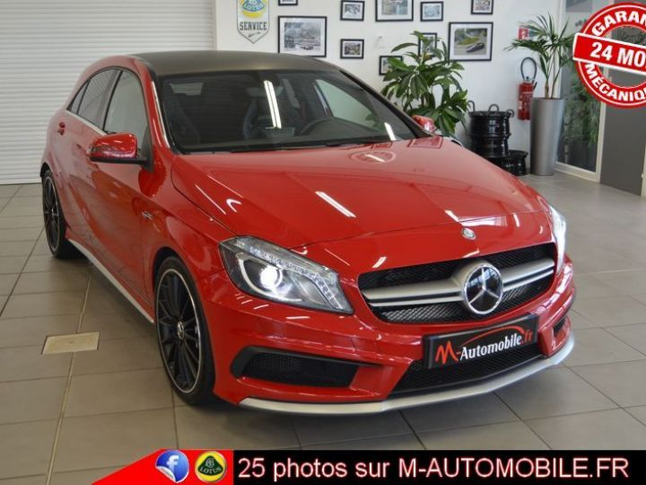 Mercedes Classe A 45 AMG 4MATIC DCT ROUGE Occasion - 1