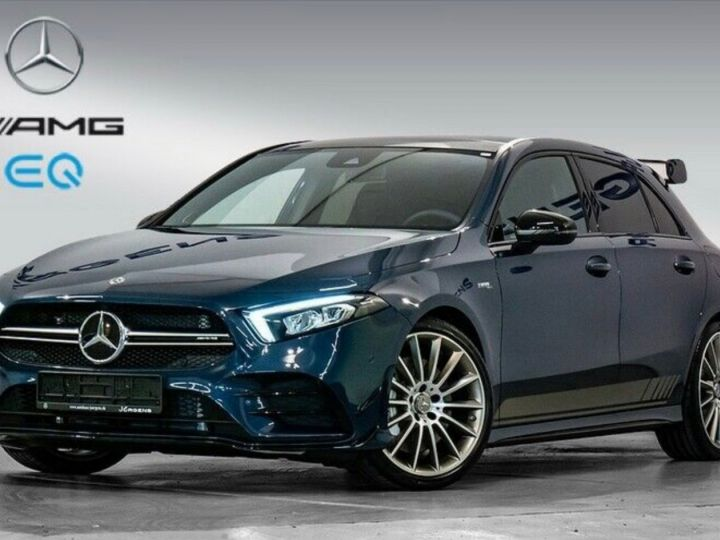 Mercedes Classe A EDITION 1 A35 AMG 4M PANO LED Bleu - 1