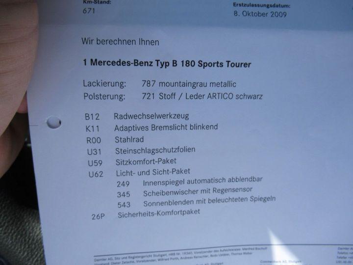 Mercedes Classe B (T245) 180 NGT DESIGN CVT Gris Fonce - 20