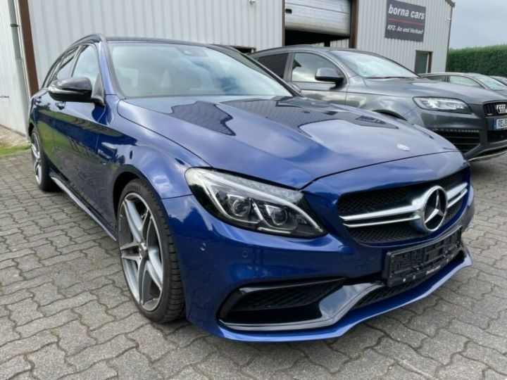 Mercedes Classe C 63 AMG T 4.0 V8 Biturbo / GPS / PHARE LED / GARANTIE 12 MOIS Bleu nuit - 1
