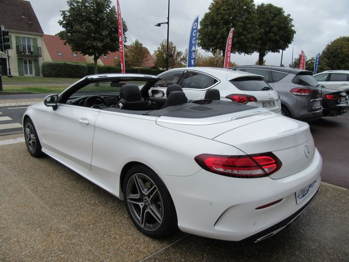 Mercedes Classe C CABRIOLET AMG LINE 200 HYBRIDE 184CH 9G-TRONIC Blanc Occasion - 3