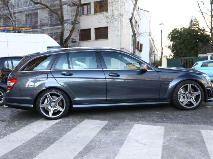 Mercedes Classe C MERCEDES C63 AMG SW 67300 KMS EN ETAT NEUF VMAX 280KMH Gris Tenorite - 4