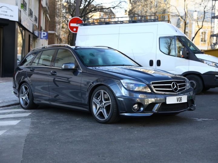 Mercedes Classe C MERCEDES C63 AMG SW 67300 KMS EN ETAT NEUF VMAX 280KMH Gris Tenorite - 2