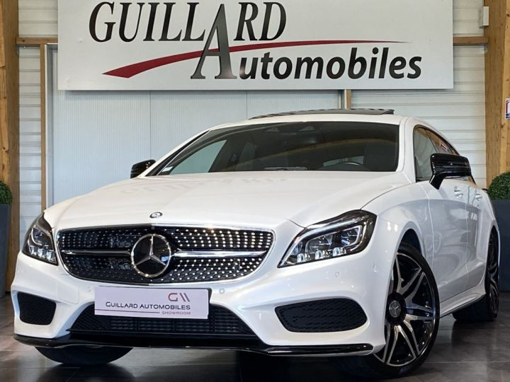 Mercedes CLS Shooting Brake 350 D FASCINATION PACK AMG 258ch 9G-TRONIC BLANC NACRE - 1