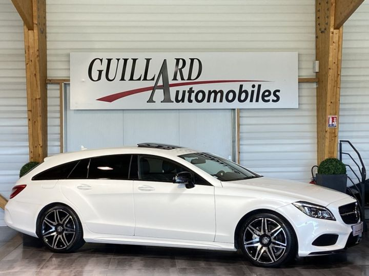 Mercedes CLS Shooting Brake 350 D FASCINATION PACK AMG 258ch 9G-TRONIC BLANC NACRE - 3