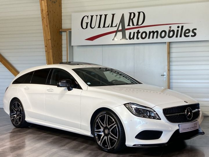 Mercedes CLS Shooting Brake 350 D FASCINATION PACK AMG 258ch 9G-TRONIC BLANC NACRE - 4
