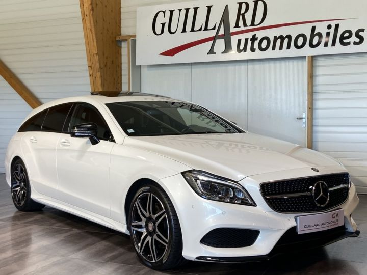 Mercedes CLS Shooting Brake 350 D FASCINATION PACK AMG 258ch 9G-TRONIC BLANC NACRE - 5