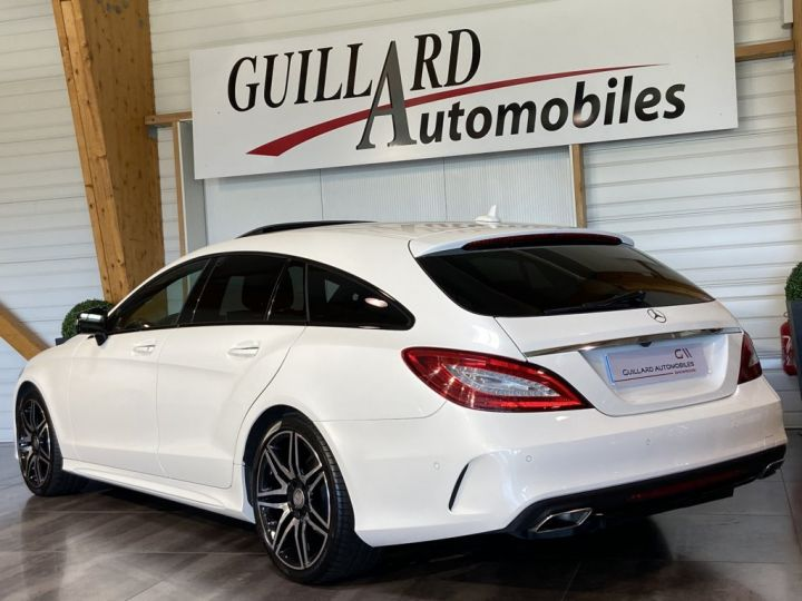 Mercedes CLS Shooting Brake 350 D FASCINATION PACK AMG 258ch 9G-TRONIC BLANC NACRE - 8