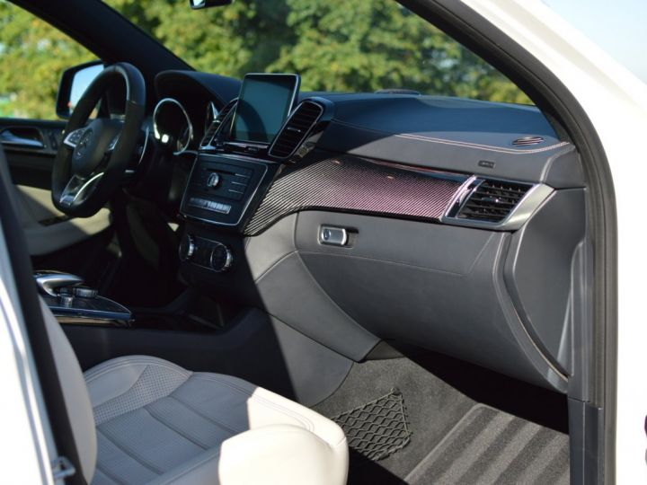 Mercedes GLE Coupé RARE MERCEDES GLE 63S AMG COUPE DCT 7G TRONIC 5.5l V8 585ch 4MATIC FULL ATTELAGE DESIGNO ECHAP. SPORT 1ERE MAIN BLANC NACRE DESIGNO - 12