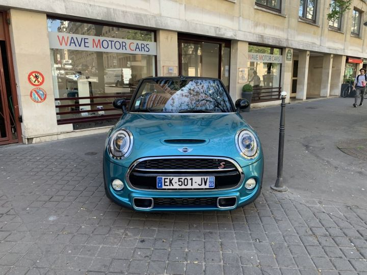 Mini Cabrio mini cooper s bva8 red hot chili  BLEU OCEAN Occasion - 1