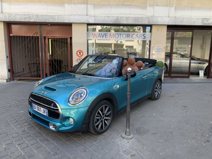 Mini Cabrio mini cooper s bva8 red hot chili  BLEU OCEAN Occasion - 2