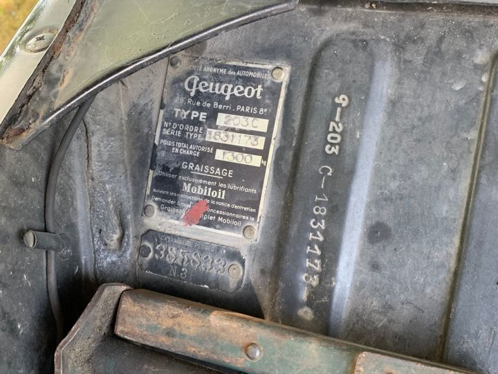 Peugeot 203 C Toit Ouvrant Noire - 8
