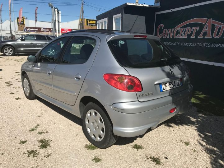 Peugeot 206 1.4 HDI STYLE  gris metal Occasion - 4