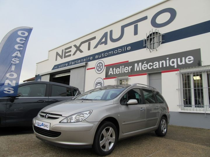 Peugeot 307 SW 2.0 HDI110 GRIFFE Gris Clair Occasion - 1