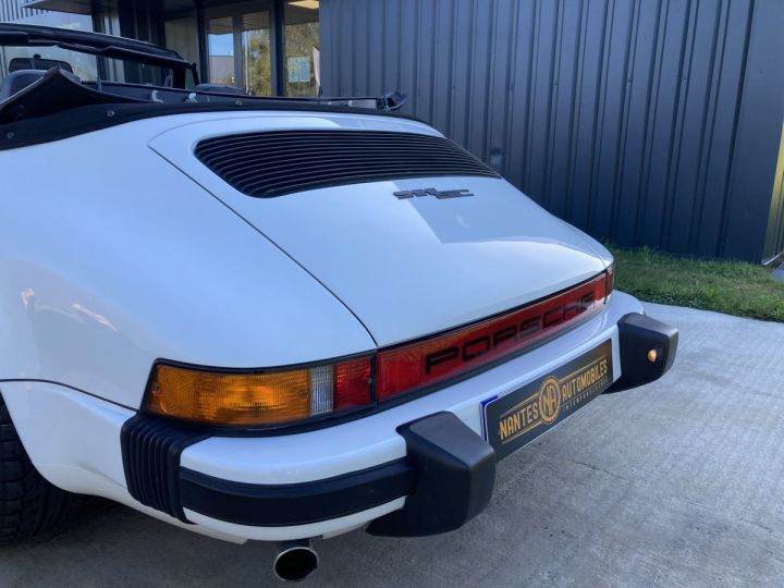 Porsche 911 3.0 SC Cabriolet  blanc Grand Prix white - 14