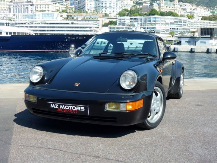 Porsche 911 965 TURBO 3.3 Noir Metal Occasion - 4