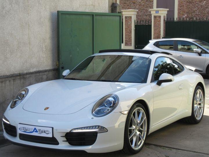 Porsche 911 991 CARRERA 3.4L 350CH PDK BLANC Occasion - 1