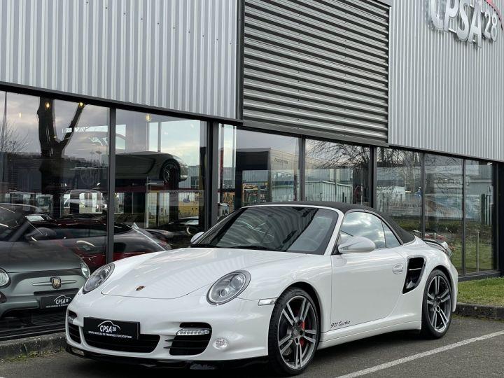 Porsche 911 (997) (2) CABRIOLET 3.8 500 TURBO PDK BLANC - 1