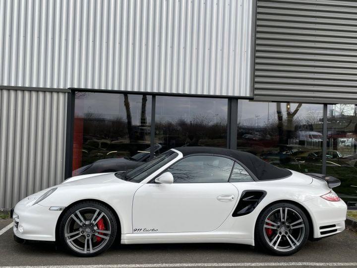 Porsche 911 (997) (2) CABRIOLET 3.8 500 TURBO PDK BLANC - 3
