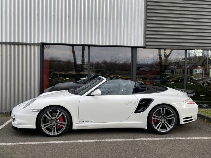 Porsche 911 (997) (2) CABRIOLET 3.8 500 TURBO PDK BLANC - 4
