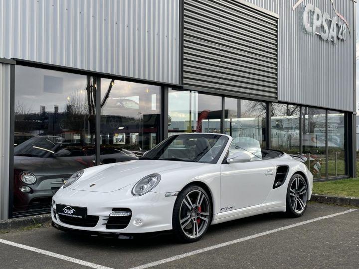 Porsche 911 (997) (2) CABRIOLET 3.8 500 TURBO PDK BLANC - 5