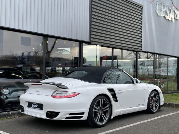 Porsche 911 (997) (2) CABRIOLET 3.8 500 TURBO PDK BLANC - 6