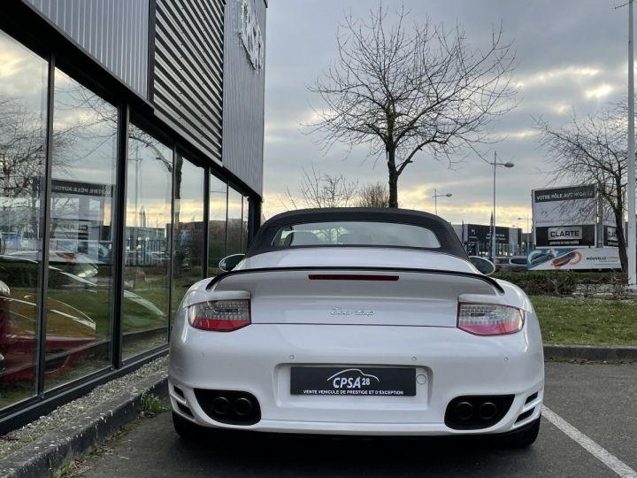 Porsche 911 (997) (2) CABRIOLET 3.8 500 TURBO PDK BLANC - 7