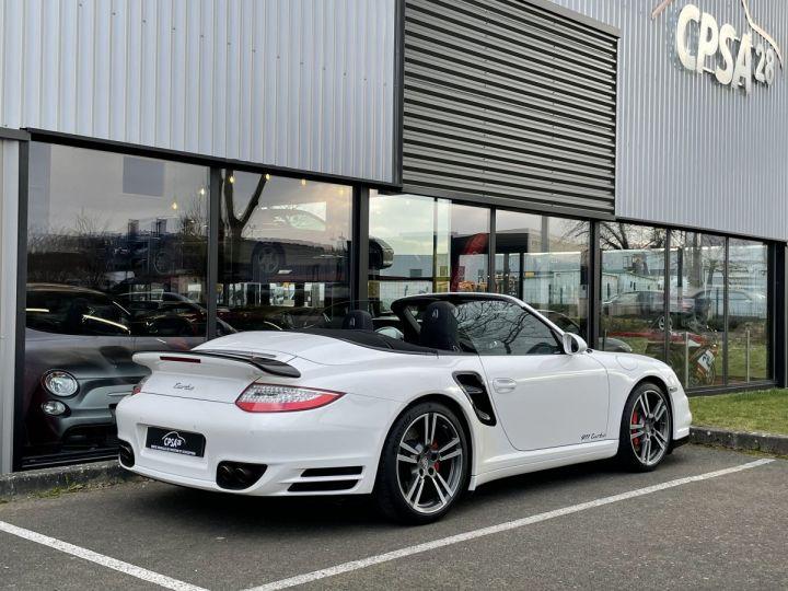 Porsche 911 (997) (2) CABRIOLET 3.8 500 TURBO PDK BLANC - 9
