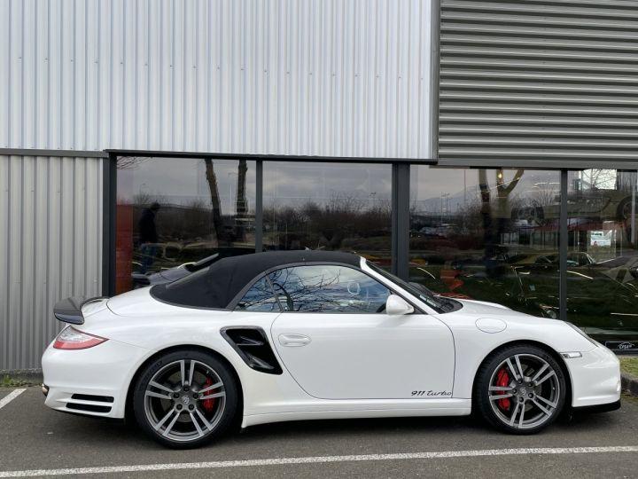 Porsche 911 (997) (2) CABRIOLET 3.8 500 TURBO PDK BLANC - 10