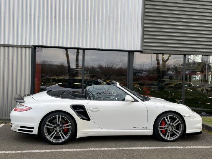 Porsche 911 (997) (2) CABRIOLET 3.8 500 TURBO PDK BLANC - 11