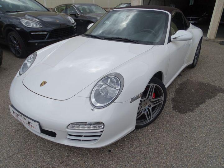 Porsche 911 997 4S Cabriolet MK2 PDK 3.8L 385PS/ PCM Jtes 19 Turbo  PASM Bi Xénon Blanc carrera nacré - 3
