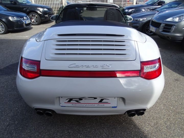 Porsche 911 997 4S Cabriolet MK2 PDK 3.8L 385PS/ PCM Jtes 19 Turbo  PASM Bi Xénon Blanc carrera nacré - 6