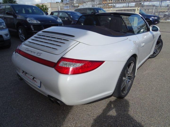 Porsche 911 997 4S Cabriolet MK2 PDK 3.8L 385PS/ PCM Jtes 19 Turbo  PASM Bi Xénon Blanc carrera nacré - 8
