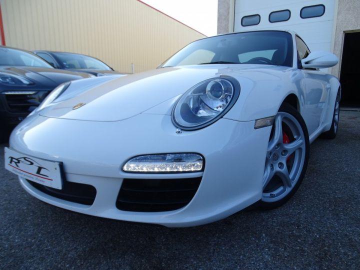 Porsche 911 997 S 3.8L 385PS PDK/PACK CHRONO + TOE BIXENON CD S.SPORT PACK CUIR REGULATEUR DE VITESSE blanc nacré - 1
